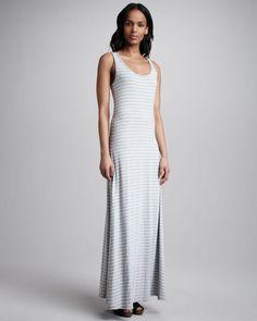 Seaton - Striped Maxi Dress, Gray/white on http://lolobu.com/o/2231