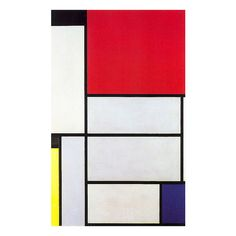 History of Art: Piet Mondrian ❤ liked on Polyvore featuring backgrounds, arts, fillers and red