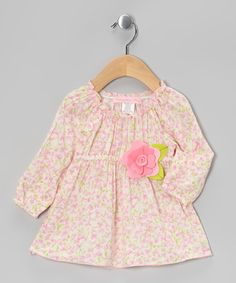 Take a look at this Pink Trellis Rose Peasant Tunic - Toddler & Girls by Everyday Nay on #zulily today!