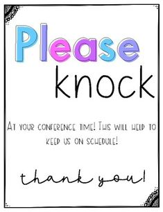 Please Knock Conference Sign Parent Letters From Teachers, Parent Teacher Conference Forms, Parent Teacher Conferences, Letter To Parents, Special Education Teacher, Parents As Teachers, Physical Education, Paragraph Writing, Persuasive Writing