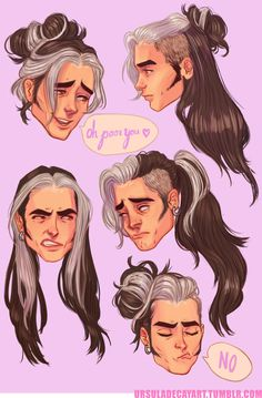 Olly's hair by UrsulaDecay on @DeviantArt