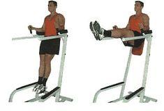 hanging leg raise machine