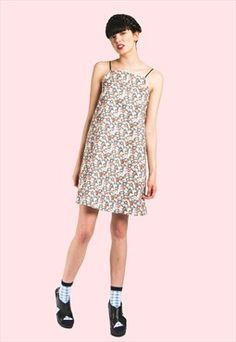 WE ARE COW Floral A-Line Dress