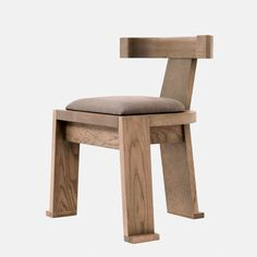 FIONA | DINING CHAIR – Carlyle Collective Timber Structure, Got Wood, Seat Pads, Minimal Design, Furniture Making, Upholstery, Dining Chairs, Relax, Brown