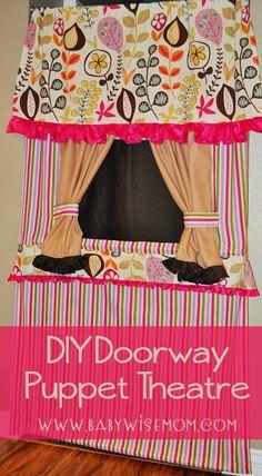DIY Doorway Puppet Theatre {Tutorial}. Make your own doorway puppet theatre (or puppet theater).