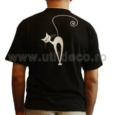 Tricou Pisica - Util Deco Deco, Mens Tops, T Shirt, Gifts, Fashion, Supreme T Shirt, Moda, Tee Shirt, Presents