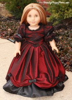 Find out how you can create a custom Serafina Doll and her red winter gown from Robert Beatty's book, Serafina and the Black Cloak.