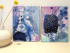 Small artworks by Danish artist Mette Lindberg