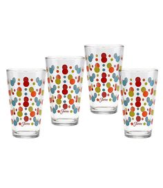 Fiesta Poppy Dots Cooler Glasses, Set of 4