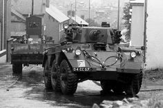 Armoured vehicles enter Derry/Londonderry on 31 July 1972 as part of Operation Motorman
