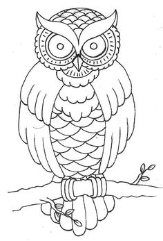 traditional owl outline - Google Search