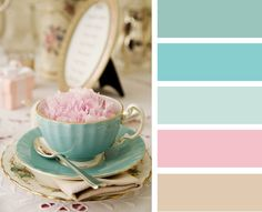 vintage, pastels, split complimentary colour palette