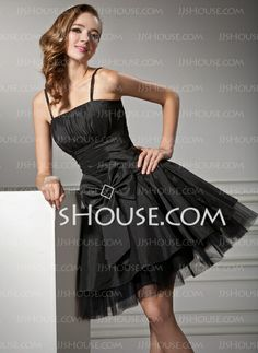 Homecoming Dresses - $79.99 - A-Line/Princess Strapless Short/Mini Taffeta Tulle Homecoming Dresses With Ruffle (022020965) http://jjshouse.com/A-Line-Princess-Strapless-Short-Mini-Taffeta-Tulle-Homecoming-Dresses-With-Ruffle-022020965-g20965