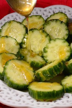 Lithuanian Cucumbers and honey. Find the recipe in The Monthly Planner/Journal by Grayce Lynn Lily , along with other old fashioned Lithuanian Recipes. Lithuania Food, Lithuania Travel, Poland Travel, Italy Travel, Lithuanian Recipes, Polish Recipes, Vegetarian Paleo, Easy Cooking, Food Pictures