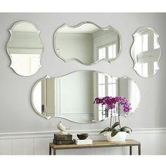 Audrey Mirror - Audrey Frameless Mirror - Wide Beveled Edge Mirror small, 20 x 25 x 40 ballard designs Beveled Edge Mirror, Frameless Mirror, Beveled Glass, Mirror Mirror, Bathroom Mirrors, Frameless Picture Frames, Master Bathroom, Gold Mirrors, Entry Mirror