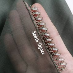Bead Crochet, Hand Embroidery, Needlework, Diy And Crafts, Beads, Lace, Silver, Jewelry, Tejidos