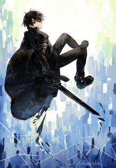Kirito aka the Black Swordsman ~ Sword Art Online Anime Yugioh, Manga Anime, Anime Body, Anime Pokemon, Manga Art, Arte Online, Online Art, I Love Anime, Awesome Anime