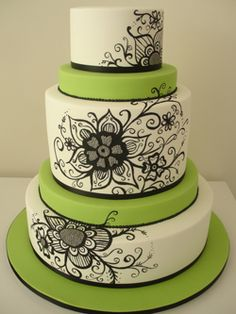 Green, white and black -love the colors.