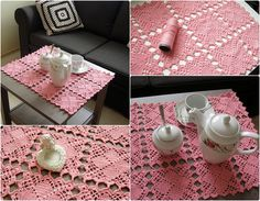 szydełkowy obrus, crochet table clothes