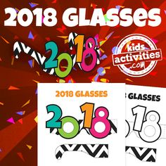 Get ready to start the new year in style with these printable 2018 Glasses for the whole family!