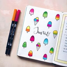 We are halfway through the year and its time to show off June bujo layouts. Lets check out these gorgeous hello June bullet journal layout ideas. Bullet Journal School, Bullet Journal Cover Page, Bullet Journal Notebook, Bullet Journal Ideas Pages, Bullet Journal Layout, Bullet Journal Inspiration, Journal Pages, Journals, Bullet Journal Calendrier