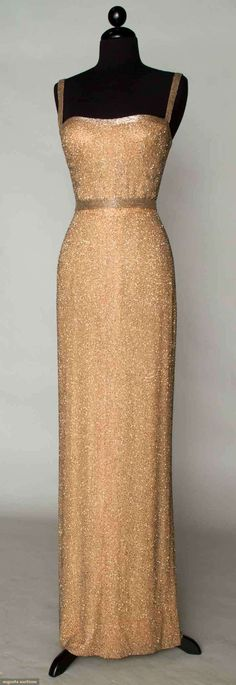 Beaded Evening Gown, 1960s