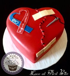 CHD Awareness Cake