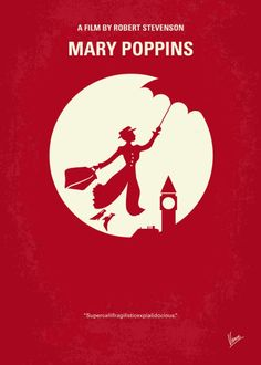 Mary Poppins (1964) ~ Minimal Movie Poster by Chungkong #amusementphile
