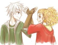 Jack Frost and Merida Rapunzel, Scorpius And Rose, Disney Hogwarts, Frozen And Tangled, Jack Frost And Elsa, Desenhos Harry Potter, Princess Drawings, Architecture Tattoo, The Big Four