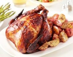 Rotisserie chicken in the crock pot.  The spice rub makes this recipe delectable and incredibly flavorful.  The only way that we cook chicken anymore!