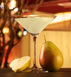 The Pear-A-Sol from Wynn Las #Vegas  1 ½ oz. Absolut Pear Vodka  1/2 oz. Belle Paire Pear Liqueur  1/4 oz. Pear Puree 1 1/4 oz. Fresh Sweet & Sour (*recipe below) 1/4 oz. Simple Syrup (**recipe below)  Combine the above ingredients into a bar mixing glass.  Add ice and shake well to chill.  Strain into a chilled martini/cocktail glass.  Garnish with a maraschino cherry.  Serve.