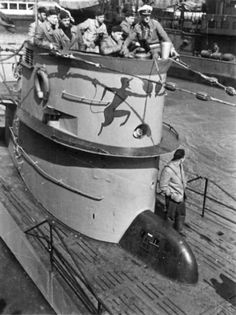 The conning tower of German submarine U-552 Red Devil