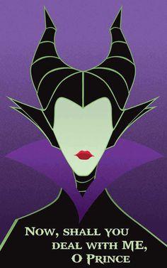 Maleficent - Sleeping Beauty / Disney Villains Inspired - Movie Art Poster