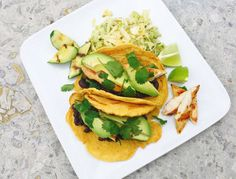 These vegan tacos are so satisfying you won't miss the corn or wheat flour of standard tortillas. Feel free to skip the slaw or use grilled chicken in place of the zucchini. This recipe makes …