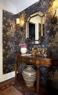 betsy burnham, burnham design, powder room.