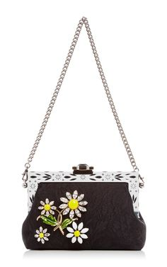 Silk Jacquard Evening Purse With Crystal Daisy Embellishment by DOLCE  amp   GABBANA Now Available on dfedac7749e2e