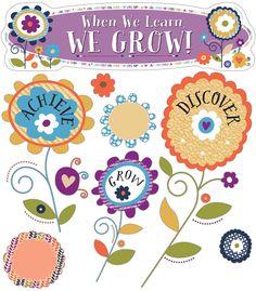 You-Nique When We Learn, We Grow! Mini Bulletin Board Set