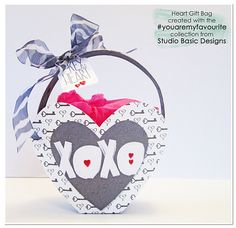 project by livelys Made using: #youaremyfavorite Collection by Studio Basic DIY Printable Templates: Heart Bag by Heather Roselli #sweetshoppedesigns #hyrbrid #craft #papercraft #digitalscrapbooking #scrapbook
