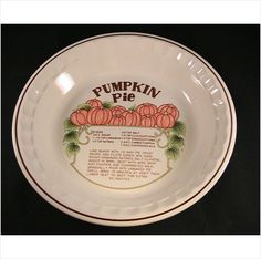 """Pie baking plate 10-1/2"""" with recipe dishwasher microwave oven safe by Hankook on eBid United States"""