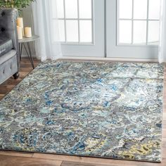 nuLOOM Modern Abstract Vintage Multi Area Rug (8' x 10') | Overstock.com Shopping - The Best Deals on 7x9 - 10x14 Rugs