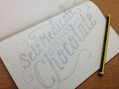 Hand Lettering Tutorial from Daily Dishonesty -- from paper to computer rendered drawing