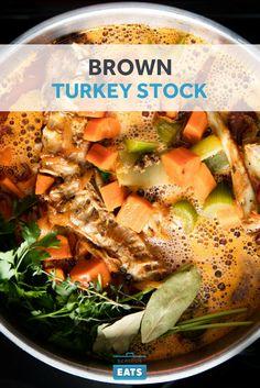 Roasting the turkey bones adds a deep, rich, savory flavor that enhances the stock.