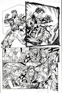 Lee - Wildcats 13 page 15, in ImageDelight's JIM LEE Comic Art Gallery Room