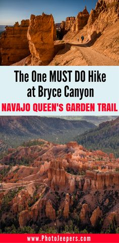The Navajo Loop-Queen's Garden Trail in Bryce Canyon National Park is a beautiful 3 mile hike. It's Bryce Canyon National Park's most popular hike and we definitely know why! Check out our guide to hiking Navajo Loop – Queen's Garden Trail including safet Bryce Canyon Hikes, Utah Hikes, Us National Parks, Zion National Park, National Forest, Monument Valley, Grand Canyon, Hiking Guide, Hiking Gear