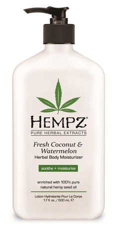 Hempz Coconut & Watermelon Moisturizer. This is some good stuff! Smells like beach heaven :)