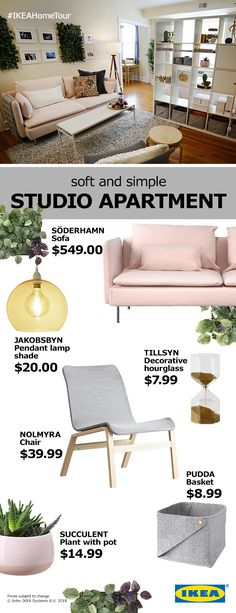 Here are some simple and affordable designs that will give your studio apartment a styilsh touch while maximizing your space.