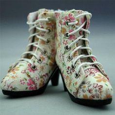 [wamami] 48# Pink Flower 1/4 MSD BJD DOD Dollfie High Heels Flanging Boots/Shoes