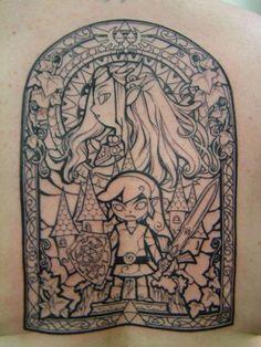 Zelda & Link, vitrail