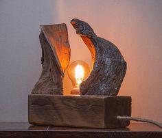 Wooden lamp Driftwood lamp