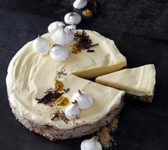 Frisk og god kake med pasjonsfrukt